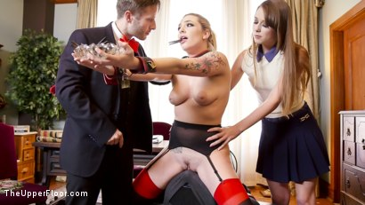 Photo number 15 from Tax Day: The Slave and The Bad Girl's Anal Punishment  shot for The Upper Floor on Kink.com. Featuring Dahlia Sky, Zoey Laine and Axel Aces in hardcore BDSM & Fetish porn.