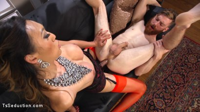 Photo number 13 from Delivery Man Worships Feet and Gets Fucked shot for TS Seduction on Kink.com. Featuring Venus Lux and Sebastian Keys in hardcore BDSM & Fetish porn.