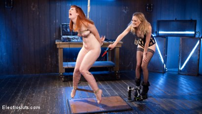 Photo number 1 from Mona Wales Anally Electrofucks Hot Redhead Barbary Rose! shot for Electro Sluts on Kink.com. Featuring Mona Wales and Barbary Rose in hardcore BDSM & Fetish porn.