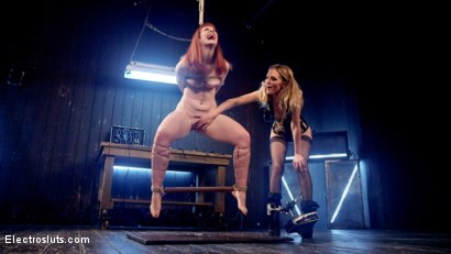 Photo number 2 from Mona Wales Anally Electrofucks Hot Redhead Barbary Rose! shot for Electro Sluts on Kink.com. Featuring Mona Wales and Barbary Rose in hardcore BDSM & Fetish porn.