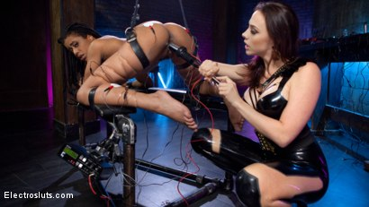 Photo number 8 from Chanel Preston Electro Initiates Kira Noir! shot for Electro Sluts on Kink.com. Featuring Chanel Preston and Kira Noir in hardcore BDSM & Fetish porn.