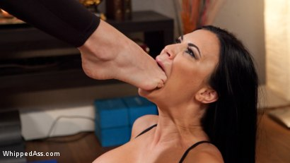 Photo number 6 from Pussy Yoga: Instructor Chanel Preston Punishes Disrespectful Student! shot for Whipped Ass on Kink.com. Featuring Chanel Preston and Jasmine Jae in hardcore BDSM & Fetish porn.