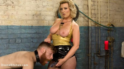 Photo number 14 from Pretty boy slave humiliated and pegged by Mistress Cherry Torn! shot for Divine Bitches on Kink.com. Featuring Cherry Torn and Sebastian Keys in hardcore BDSM & Fetish porn.