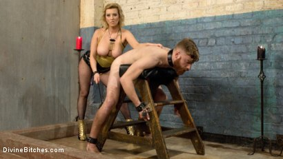 Photo number 4 from Pretty boy slave humiliated and pegged by Mistress Cherry Torn! shot for Divine Bitches on Kink.com. Featuring Cherry Torn and Sebastian Keys in hardcore BDSM & Fetish porn.