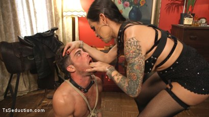 Photo number 2 from This lady of the night has a pounding hard cock ready to fuck! shot for TS Seduction on Kink.com. Featuring Lance Hart and TS Foxxy in hardcore BDSM & Fetish porn.