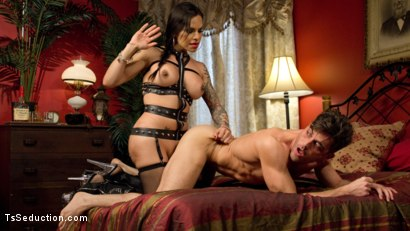 Photo number 5 from This lady of the night has a pounding hard cock ready to fuck! shot for TS Seduction on Kink.com. Featuring Lance Hart and TS Foxxy in hardcore BDSM & Fetish porn.