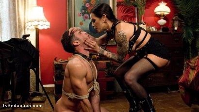 Photo number 15 from This lady of the night has a pounding hard cock ready to fuck! shot for TS Seduction on Kink.com. Featuring Lance Hart and TS Foxxy in hardcore BDSM & Fetish porn.