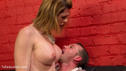 Photo number 5 from Delia releases a kept man from chastity then locks him down with her cock! shot for TS Seduction on Kink.com. Featuring Will Havoc and Delia DeLions in hardcore BDSM & Fetish porn.