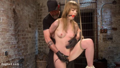 Photo number 3 from Dolly's Innocence Lost shot for Hogtied on Kink.com. Featuring Dolly Leigh and The Pope in hardcore BDSM & Fetish porn.