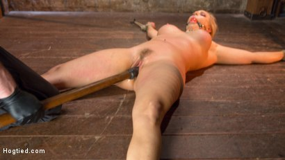 Photo number 13 from Big Tit Blonde MILF Bound, Tormented, and Made to Cum!! shot for Hogtied on Kink.com. Featuring Angel Allwood in hardcore BDSM & Fetish porn.