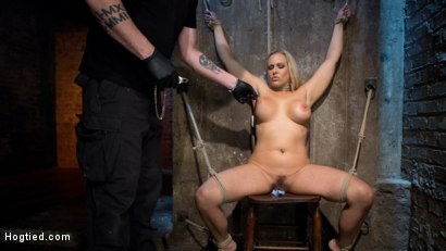 Photo number 15 from Big Tit Blonde MILF Bound, Tormented, and Made to Cum!! shot for Hogtied on Kink.com. Featuring Angel Allwood in hardcore BDSM & Fetish porn.