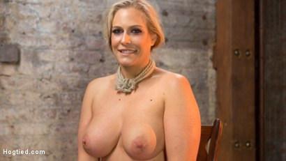 Photo number 16 from Big Tit Blonde MILF Bound, Tormented, and Made to Cum!! shot for Hogtied on Kink.com. Featuring Angel Allwood in hardcore BDSM & Fetish porn.