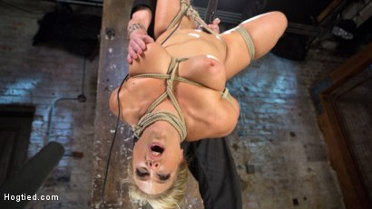 Photo number 8 from Big Tit Blonde MILF Bound, Tormented, and Made to Cum!! shot for Hogtied on Kink.com. Featuring Angel Allwood in hardcore BDSM & Fetish porn.
