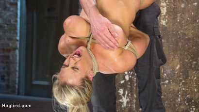 Photo number 9 from Big Tit Blonde MILF Bound, Tormented, and Made to Cum!! shot for Hogtied on Kink.com. Featuring Angel Allwood in hardcore BDSM & Fetish porn.