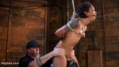 Photo number 11 from Skin Diamond is Tormented in Brutal Bondage and Made to Cum shot for Hogtied on Kink.com. Featuring Skin Diamond and The Pope in hardcore BDSM & Fetish porn.