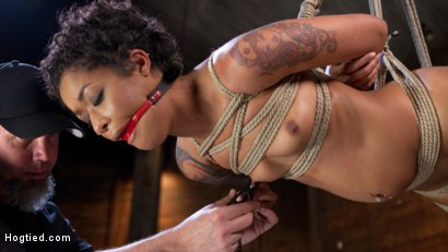 Photo number 15 from Skin Diamond is Tormented in Brutal Bondage and Made to Cum shot for Hogtied on Kink.com. Featuring Skin Diamond and The Pope in hardcore BDSM & Fetish porn.