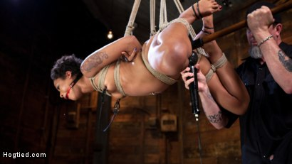 Photo number 8 from Skin Diamond is Tormented in Brutal Bondage and Made to Cum shot for Hogtied on Kink.com. Featuring Skin Diamond and The Pope in hardcore BDSM & Fetish porn.