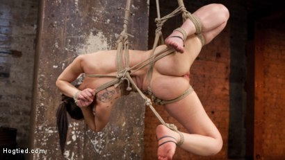 Photo number 4 from Petite Bondage Slut Gets her Holes Destroyed in Grueling Bondage shot for Hogtied on Kink.com. Featuring Gabriella Paltrova and The Pope in hardcore BDSM & Fetish porn.