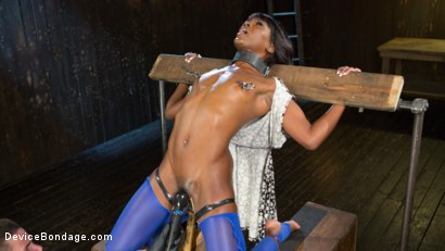 Photo number 3 from Tear Her Apart shot for Device Bondage on Kink.com. Featuring Ana Foxxx and The Pope in hardcore BDSM & Fetish porn.