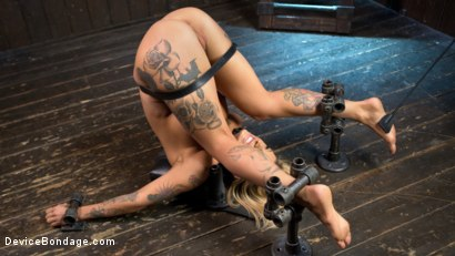 Photo number 11 from Super Sexy ALT Pain Slut Captured in Brutal Bondage and Tormented shot for Device Bondage on Kink.com. Featuring Kleio Valentien and The Pope in hardcore BDSM & Fetish porn.