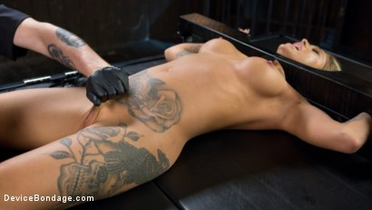 Photo number 14 from Super Sexy ALT Pain Slut Captured in Brutal Bondage and Tormented shot for Device Bondage on Kink.com. Featuring Kleio Valentien and The Pope in hardcore BDSM & Fetish porn.