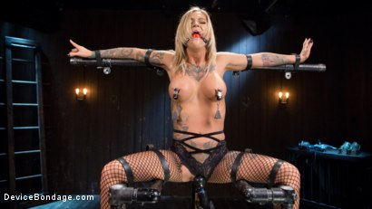 Photo number 7 from Super Sexy ALT Pain Slut Captured in Brutal Bondage and Tormented shot for Device Bondage on Kink.com. Featuring Kleio Valentien and The Pope in hardcore BDSM & Fetish porn.