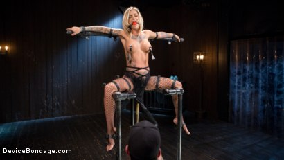 Photo number 2 from Super Sexy ALT Pain Slut Captured in Brutal Bondage and Tormented shot for Device Bondage on Kink.com. Featuring Kleio Valentien and The Pope in hardcore BDSM & Fetish porn.