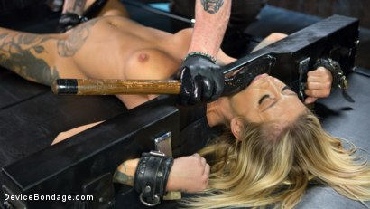 Photo number 13 from Super Sexy ALT Pain Slut Captured in Brutal Bondage and Tormented shot for Device Bondage on Kink.com. Featuring Kleio Valentien and The Pope in hardcore BDSM & Fetish porn.