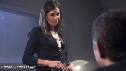 Photo number 2 from Rookie Detective Held Anal Hostage shot for Sex And Submission on Kink.com. Featuring Kacie Castle and Xander Corvus in hardcore BDSM & Fetish porn.