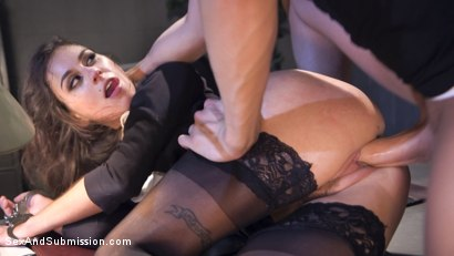 Photo number 7 from Rookie Detective Held Anal Hostage shot for Sex And Submission on Kink.com. Featuring Kacie Castle and Xander Corvus in hardcore BDSM & Fetish porn.