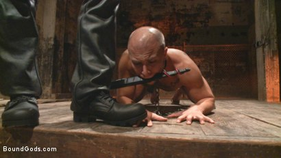 Photo number 11 from New Dom - Strong, Silent with a Wicked Smile shot for Bound Gods on Kink.com. Featuring Jason Maddox and Eli Hunter in hardcore BDSM & Fetish porn.