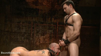 Photo number 14 from New Dom - Strong, Silent with a Wicked Smile shot for Bound Gods on Kink.com. Featuring Jason Maddox and Eli Hunter in hardcore BDSM & Fetish porn.