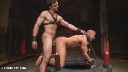 Photo number 3 from New Dom - Strong, Silent with a Wicked Smile shot for Bound Gods on Kink.com. Featuring Jason Maddox and Eli Hunter in hardcore BDSM & Fetish porn.