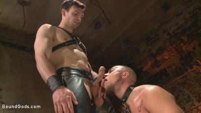 Photo number 8 from New Dom - Strong, Silent with a Wicked Smile shot for Bound Gods on Kink.com. Featuring Jason Maddox and Eli Hunter in hardcore BDSM & Fetish porn.