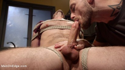 Photo number 3 from Jessie Fulfills His Fantasy: Introducing His Hot Friend to Bondage shot for Men On Edge on Kink.com. Featuring Owen Powers in hardcore BDSM & Fetish porn.