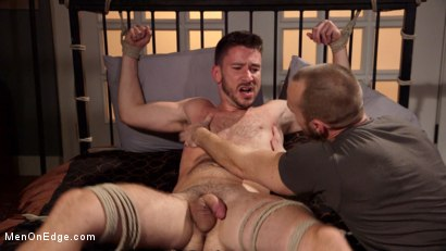 Photo number 6 from Jessie Fulfills His Fantasy: Introducing His Hot Friend to Bondage shot for Men On Edge on Kink.com. Featuring Owen Powers in hardcore BDSM & Fetish porn.
