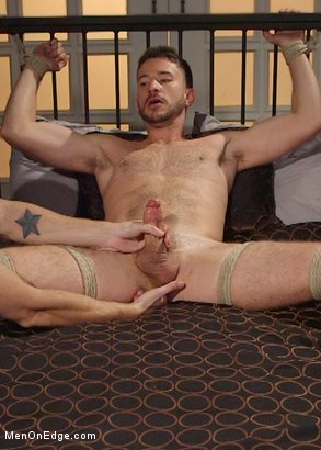 Photo number 8 from Jessie Fulfills His Fantasy: Introducing His Hot Friend to Bondage shot for Men On Edge on Kink.com. Featuring Owen Powers in hardcore BDSM & Fetish porn.