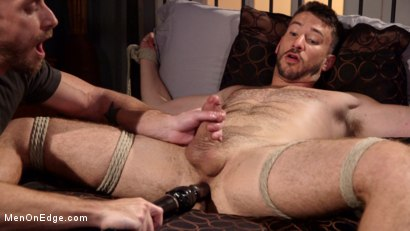 Photo number 14 from Jessie Fulfills His Fantasy: Introducing His Hot Friend to Bondage shot for Men On Edge on Kink.com. Featuring Owen Powers in hardcore BDSM & Fetish porn.