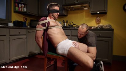 Photo number 7 from Jessie Fulfills His Fantasy: Introducing His Hot Friend to Bondage shot for Men On Edge on Kink.com. Featuring Owen Powers in hardcore BDSM & Fetish porn.