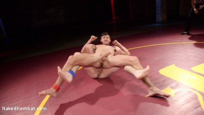Photo number 3 from Boner Fight - Winner gets to fuck the loser shot for Naked Kombat on Kink.com. Featuring Scott DeMarco and Jackson Fillmore in hardcore BDSM & Fetish porn.