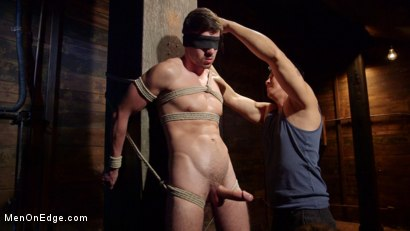 Photo number 13 from Ripped Stud Caught in Sebastian's Web and Edged Relentlessly shot for Men On Edge on Kink.com. Featuring Scott DeMarco in hardcore BDSM & Fetish porn.