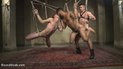 Photo number 9 from Bukkake Galore - Bound Gods Live Show shot for Bound Gods on Kink.com. Featuring Van Darkholme, Zane Anders, Trenton Ducati and Adam Ramzi in hardcore BDSM & Fetish porn.