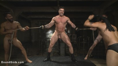 Photo number 11 from Bukkake Galore - Bound Gods Live Show shot for Bound Gods on Kink.com. Featuring Van Darkholme, Zane Anders, Trenton Ducati and Adam Ramzi in hardcore BDSM & Fetish porn.