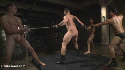 Photo number 13 from Bukkake Galore - Bound Gods Live Show shot for Bound Gods on Kink.com. Featuring Van Darkholme, Zane Anders, Trenton Ducati and Adam Ramzi in hardcore BDSM & Fetish porn.