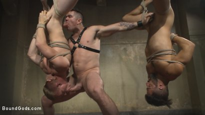 Photo number 2 from Bukkake Galore - Bound Gods Live Show shot for Bound Gods on Kink.com. Featuring Van Darkholme, Zane Anders, Trenton Ducati and Adam Ramzi in hardcore BDSM & Fetish porn.