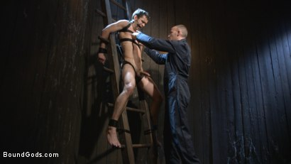 Photo number 2 from Hesitant Stud Transformed into Mr Wilde's Bondage Slut shot for Bound Gods on Kink.com. Featuring Christian Wilde and Max Woods in hardcore BDSM & Fetish porn.