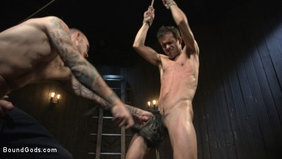 Photo number 14 from Hesitant Stud Transformed into Mr Wilde's Bondage Slut shot for Bound Gods on Kink.com. Featuring Christian Wilde and Max Woods in hardcore BDSM & Fetish porn.