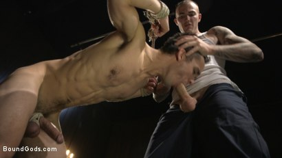 Photo number 4 from Hesitant Stud Transformed into Mr Wilde's Bondage Slut shot for Bound Gods on Kink.com. Featuring Christian Wilde and Max Woods in hardcore BDSM & Fetish porn.