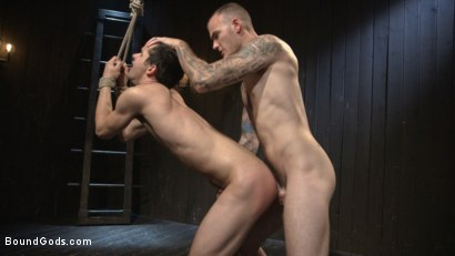 Photo number 7 from Hesitant Stud Transformed into Mr Wilde's Bondage Slut shot for Bound Gods on Kink.com. Featuring Christian Wilde and Max Woods in hardcore BDSM & Fetish porn.