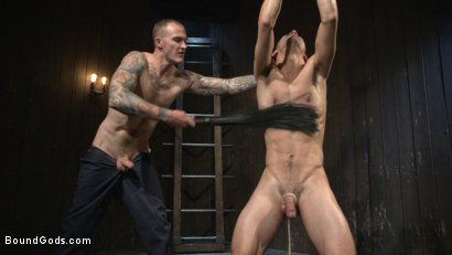 Photo number 10 from Hesitant Stud Transformed into Mr Wilde's Bondage Slut shot for Bound Gods on Kink.com. Featuring Christian Wilde and Max Woods in hardcore BDSM & Fetish porn.